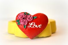 1077 Love Flowoer Heart ValentineSilicone Rubber Flexible Food Safe Mold Mould- resin, clay, fondant, gum paste, candy, chocolate, soap by MasterMolds on Etsy https://www.etsy.com/listing/217082985/1077-love-flowoer-heart