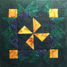 Parade of Stars Mystery quilt 2012 (Block 2 of 2). Block of the Month quilt