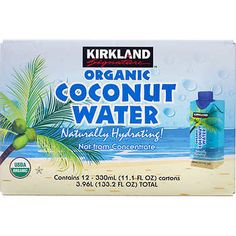 Kirkland Signature Organic Coconut Water, 12 x Coconut Palm Tree, Coconut Water, Appliance Packages, Playroom Furniture, Grill Accessories, Costco, Energy Drinks, Beverages, Organic