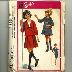 Vintage McCall's 7531. Girl's two-piece dress and dickey. Cute.