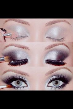 Silver smoky eyes