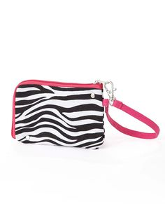 We all need a wristlet in our wardrobe, especially one that is such a fashion statement. The 'Aria' is a perfect fun size - grab and go bag.  $10.00