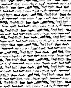 "More illustrations LINE BOTWIN ""girly illustrations"" Girls & Makeup - Bouffants & Broken Hearts Motifs Textiles, Textile Patterns, Textile Prints, Textile Design, Surface Pattern, Pattern Art, Pattern Design, Eye Pattern, Up Book"