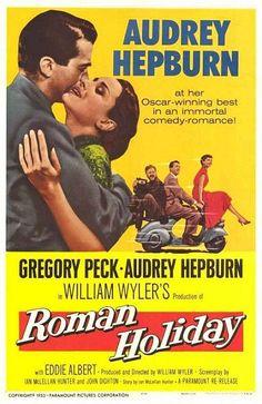 Roman Holiday. Original movie poster.