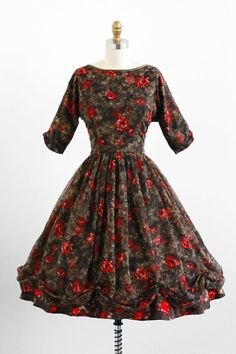 50s Xmas/Cherries & Roses dress