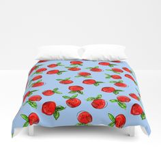 Buy Watercolor tangerine blue #homedecor #spring #fruit #watercolor Duvet Cover by susycosta. Worldwide shipping available at Society6.com. Just one of millions of high quality products available.