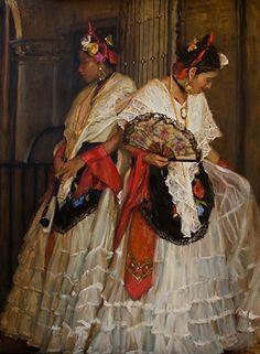 Jarochas  by Gladys Roldan-de-Moras  Oil 48 x 36