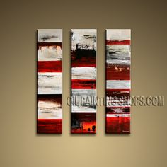 Beautiful Contemporary Wall Art Oil Painting On Canvas For Bed Room Abstract. This 3 panels canvas wall art is hand painted by Bo Yi Art Studio, instock - $155. To see more, visit OilPaintingShops.com