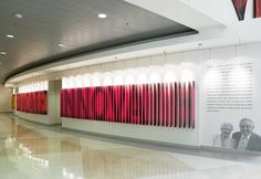 In designing a home for The William and Ida Friday Institute, a high-tech research and outreach facility at North Carolina State University's. Wayfinding Signs, Signage, Donor Wall, School Hallways, Interactive Display, Pixel Design, Environmental Graphic Design, Office Interiors, Facade