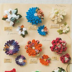 kanzashi flower ideas
