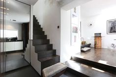 Seventeen: A Council House Renovation - Design Milk Mini Loft, Council House Renovation, House Renovations, Basement House, Basement Stairs, Interior Architecture, Interior Design, House Front Door, London House