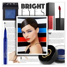"""""""Turn Around, Bright Eyes: Primary Colours"""" by leoll ❤ liked on Polyvore featuring beauty, Smashbox, Gucci, NARS Cosmetics and brighteyes"""
