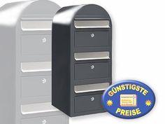 Großer banjado Briefkasten pulverbeschichtet mit Zeitungsrolle Italienischer Rol