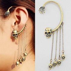 Goth punk biker style skull earring earrings multiple choices