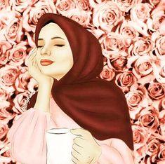 Hijabi Girl, Girl Hijab, Tmblr Girl, Hijab Drawing, Anime Muslim, Hijab Cartoon, Cute Cartoon Wallpapers, Muslim Girls, Mode Hijab