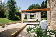 Csodaszép kert // Gorgeous garden Dream Garden, Outdoor Furniture, Outdoor Decor, Terrace, Garden Design, Backyard, Landscape, Gallery, Flowers