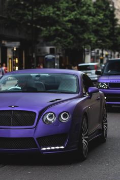 Matte Purple Bentley Continental & Range Rover