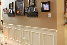 Fake Wainscoting Tutorial An easy way to update your home with decorative moldings.This is the finished product and we created the look of wain...