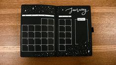My 2020 Bullet Journal Setup │ Archer and Olive Black Out Book! January Bullet Journal, Bullet Journal Notebook, Bullet Journal Spread, Bullet Journal Ideas Pages, Bullet Journal Inspiration, Bujo, Journal Paper, Scrapbook Journal, Blackout Book