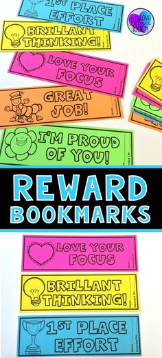 Reward ideas for high school or middle school students classroom rewards for kids are simple with these bookmarks a great addition to any classroom management system just print on cardstock and use for positive fandeluxe Choice Image