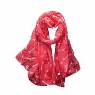 Winter Scarf Women Dragonfly Pattern Printing Long Scarf S-VarietyStore