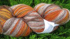 286 g. Kauni yarn. FREE Shipping Worldwide. Hall-Oranž , yarn for hand and machine knitting. Kauni Wool,dk 2ply. Self-Striping Yarn Estonija by KauniYarn on Etsy