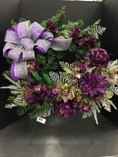Christmas purples custom floral by Andrea for Michaels Round Rock