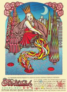 Portishead Concert Poster by Michael Michael Motorcycle