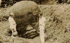 Olmec ruins, Mexico, 1941