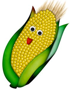 ༺♛ Christine Staniforth ♛༻ Funny Fruit, Cute Fruit, Vegetable Cartoon, Kids Magnets, Food Clipart, Mosaic Stepping Stones, Food Cartoon, Ears Of Corn, Fruit And Veg