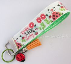 Pretty Little Ladybug Key Fob  Ladybug Key by QuirkyGirlGifts