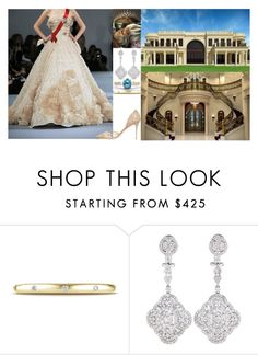 """""""Taking a formal portrait on the stairs of Akureyri Palace"""" by dana-avots ❤ liked on Polyvore featuring Elie Saab and Jimmy Choo"""