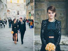 Black wedding gown by Sass and Bide - Glamorous Italian Wedding: Jemma + Daniel by David Campbell Imagery - via greenweddingshoes