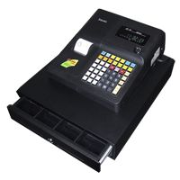 High featured Single Station Cash Register 	 	 	Raised 48 Key Keyboard 	 	 	15 Departments 	 	 	1000 PLU's 	 	 	Various programmable functions 	 	 	Receipt on - off / Late Receipt 	 	 	Customer Rear Display 	 	 	Standard 8 Coin/4 Note LARGE Metal Cash Drawer 	 	 	Preset