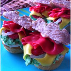 From my personal collection: Ham Sandwich Cupcakes
