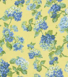Home Decor Fabric-Waverly Rolling Meadow Sateen Bluejay & Print Fabric at Joann.com