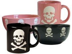 Waechtersbach Skull and Crossbones Mugs and Bowls