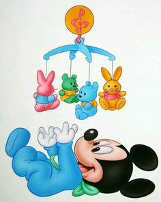 Festa Mickey Baby, Mickey Minnie Mouse, Disney Images, Disney Pictures, Baby Milestone Book, Mickey Font, Mickey Baby Showers, Baby Disney Characters, Disney Canvas Art