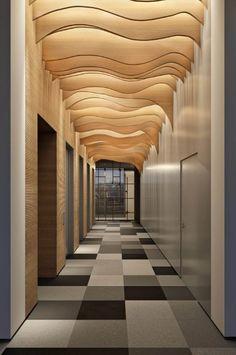 Visualization Portfolio For Architectural And Interior Design Lobby Interior, Interior Lighting, Interior Architecture, Karton Design, Hotel Ceiling, Hotel Lobby Design, Corridor Design, Futuristic Interior, Interior Minimalista