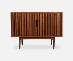 "Kipp Stewart ""Declaration"" Tambour Door Credenza for Drexel"