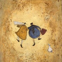 Sam Toft I Would Wait My Whole Life For You Ready Framed Canvas 30x60cm