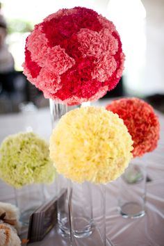 Love these for center pieces! SO cute! #weddings #flowers #Minnesotaweddingphotographers http://www.bellagala.com/wedding-floral/index.html