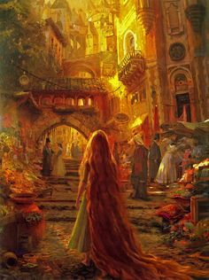 Rapunzel -- concept art for Disney's Tangled.   Craig Mullins,