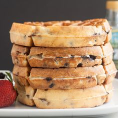 Blueberry Yeasted Waffles by Tracey's Culinary Adventures, via Flickr