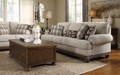 Harleson Sofa Beige - Signature Design by Ashley Modern White Living Room, Cozy Living Rooms, New Living Room, City Living, Living Area, Sofa Furniture, Metal Furniture, Furniture Ideas, Furniture Outlet