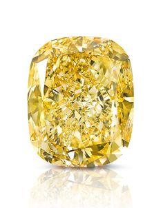 This #summer's star diamond. The Golden Empress 132.55 carat #yellow diamond by Graff. The #diamond will go to auction. | Vogue Paris