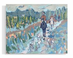 46x58 | panel Ship Paintings, Traditional Landscape, Horse Love, Cool Tools, Horseback Riding, Figurative Art, Service Design, Design Projects, Fields