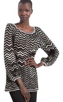 M Missoni Black and White Zigzag Tunic