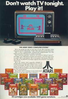 Don't watch tv tonight, play it! #Atari #xbox #xbox360 #videogames #gamecheats   BTW, please visit: http://cheating-games.imobileappsys.com