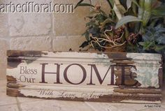 Just look at this, homemade sign made out of a baseboard ~ I like!